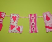 Set of 4 Custom made fabric letter - Wall Hanging, Letters Baby Name, Kids Room Decor Banner- Handmade and made to order