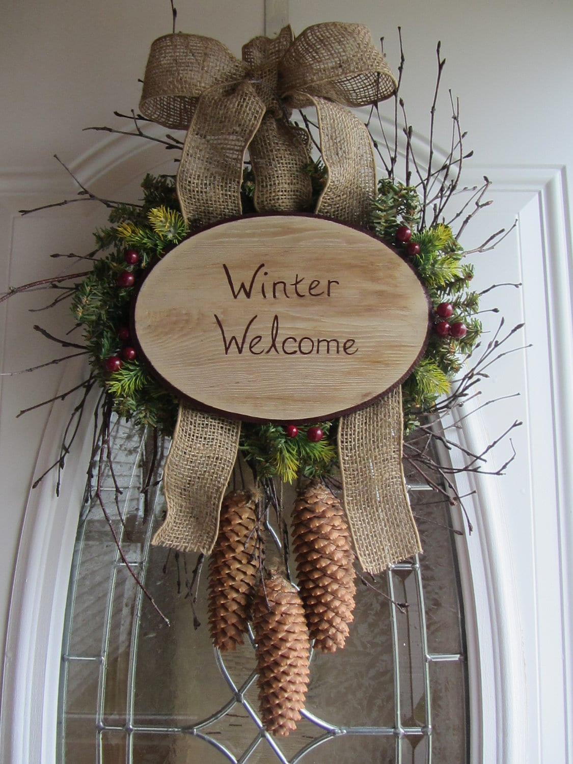 Winter Wreath Holiday Wreath Christmas By Doorwreathsbydesign