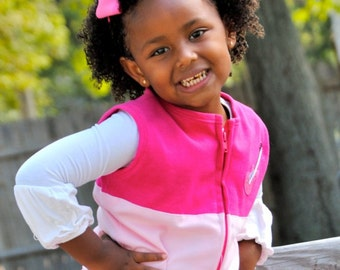 Pink Guitar Vest- Wear to a playdate wear to the concert wear any day