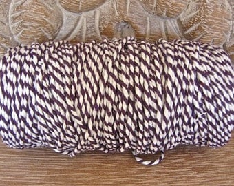 Baker's Twine - Purple and White - Full 100 Yard Spool