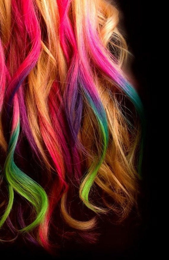 Items similar to Hair Chalk, Temporary Color For Your Hair ...