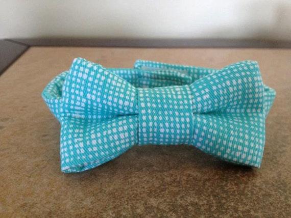Aqua Bow Tie - Dog Bow Tie