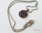 Sparkle Plum Purple Necklace with Swarovski Crystals