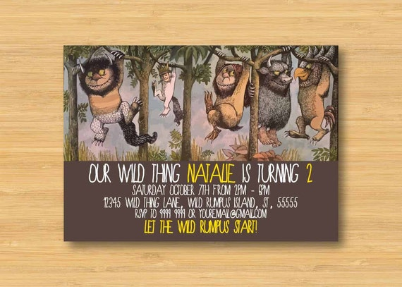 items similar to where the wild things are invitation - printable