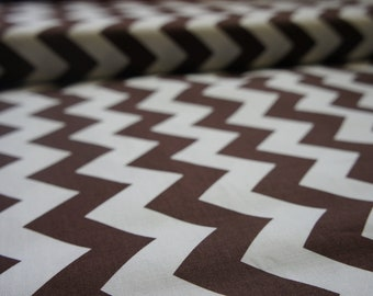 Medium Chevron in Brown and White by Riley Blake Designs, by the Yard