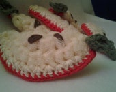 Crochet nylon apple pot scrubber