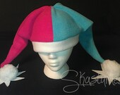 Teal and Magenta Jester Hat