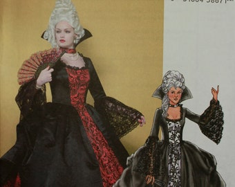 French 18th Century Costume Butterick Pattern 4315  Uncut  Size 14-16-18-20  Bust 36-38-40-42""