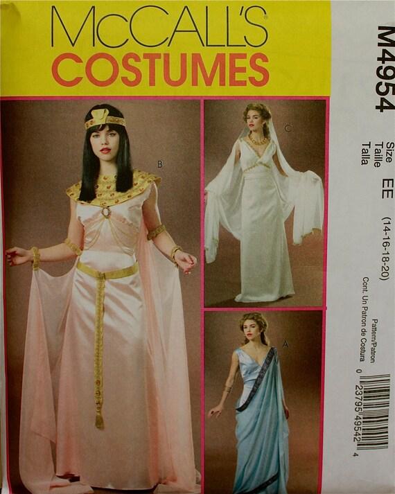 "Cleopatra, Greek & Roman Goddess - McCall's Costume Pattern 4954 Uncut  Size 14-16-18-20   Bust  36-38-40-42"""