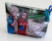 Dan and Dana, medium size, PERSONALIZE, cosmetic bag, makeup pouch, pouch, case.