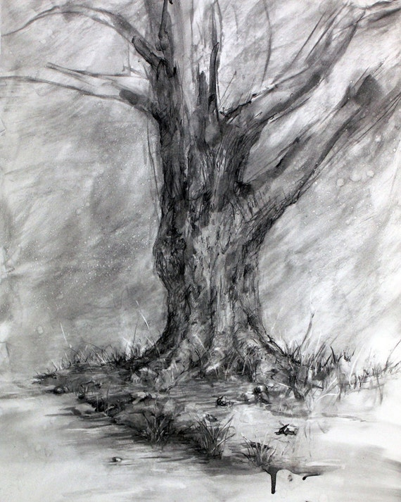 Vincent Van Gogh – Tree drawings - Drawing Academy ... |Tree Landscape Drawing