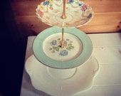 Beautiful three tier vintage cake stand -  wedding - afternoon tea