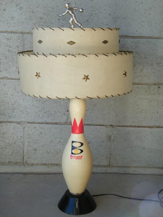 vintage bowling pin lamp