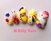 Rainbow Brite Kawaii Nails