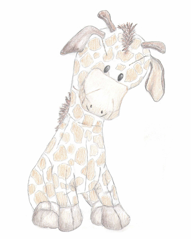 Giraffe cartoon drawing