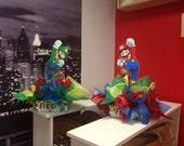 "DIY 12"" Small Mario and Luigi  Birthday Party Centerpieces FREE KIT 1st Birthday Mitzvah Baby Shower Centerpiece"