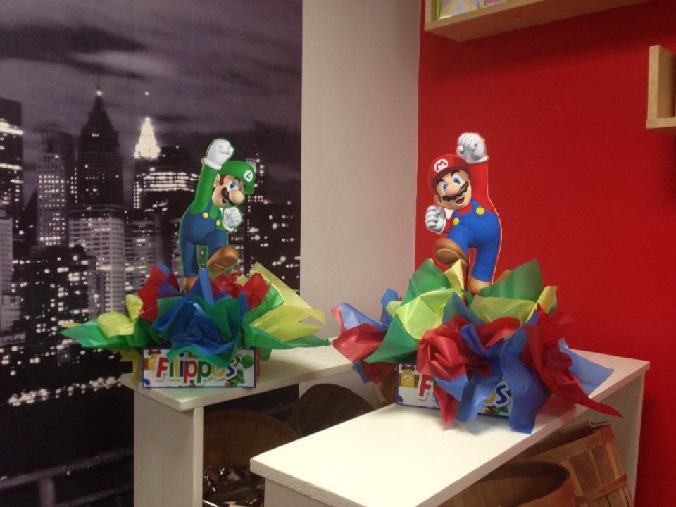 Diy small mario and luigi birthday party