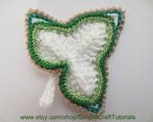 Crochet Leaf PDF Pattern Tutorial Irish Crochet Motif Clothes Home Decor Kids Children Decoration