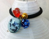 Story Night-- Glass Beads Hair Scrunchie /Beaded Ponytail Hair Jewelry