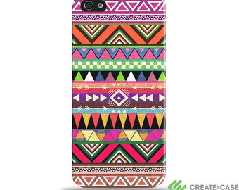 """Colourful iPhone 5/5S & SE  case/cover - protective hardcase with a slim profile aztec, tribal - """"Overdose"""""""