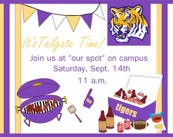 Lsu Tigers Football Bridal Shower Invitation Tailgate Party