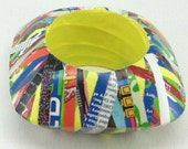 SALE...was 18.00...Free shipping to US...super-chunky paper mache bangle no. 4