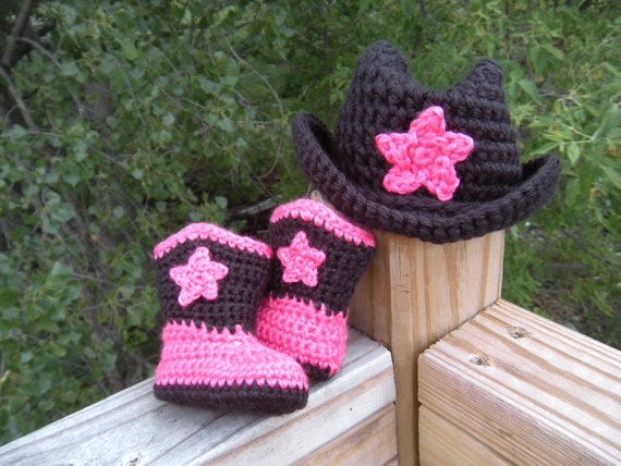 Baby Cowgirl Boots and hat set