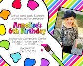Artist Painting Party Birthday Invitation