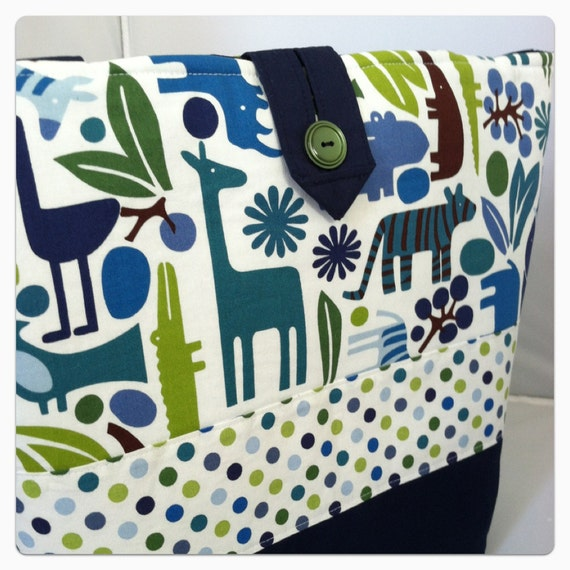 GRAND Opening SALE...Boutique Diaper Bag...2D Zoo...Ready To Ship