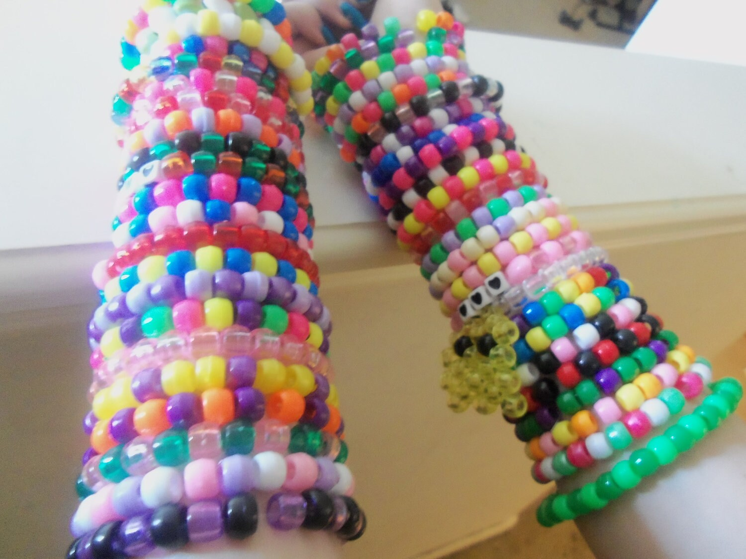 50 Kandi Rave Bracelets Colorful Cute