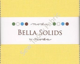 Moda Bella Solids 30's Charm Pack, Set of 42 5-inch Precut Cotton Fabric Squares (9900PP-23)