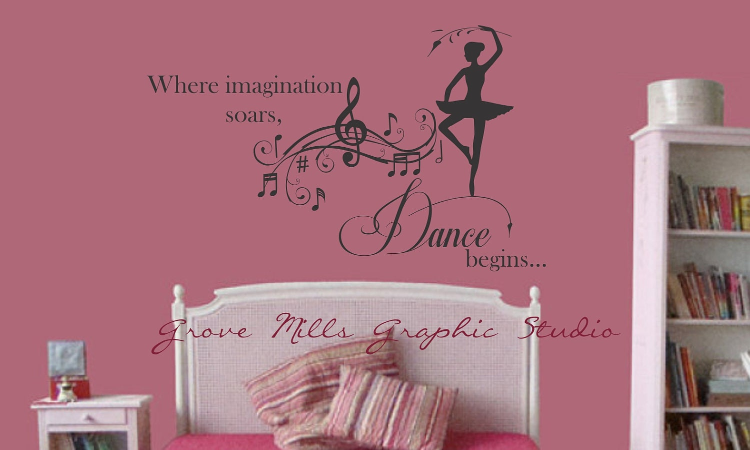 dance wall decal girls room decal dancing by wallapaloozadecals