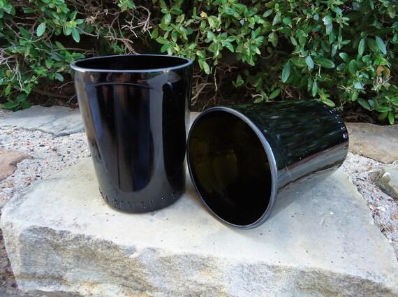 Baileys Irish Cream Recycled Liquor Bottle Glasses Set of Two