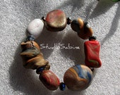 FREE SHIPPING Earth tone Bracelet - not your ordinary beads StudioSabine