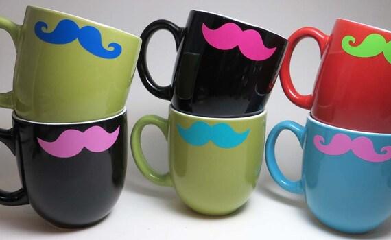Mustache Mug, Coffee Mug