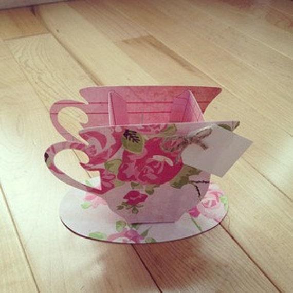 10 Rose Tea Cup Favors