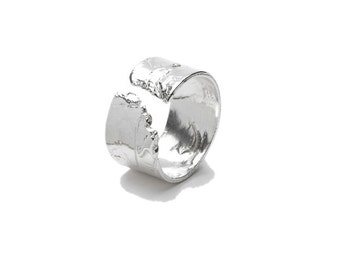 Sterling silver  Mellow Meadow Flower ajustable ring
