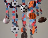 All Star Sports Mobile, (football/basketball/soccer/baseball) Nursery Decor, Baby Shower Gift, READY TO SHIP
