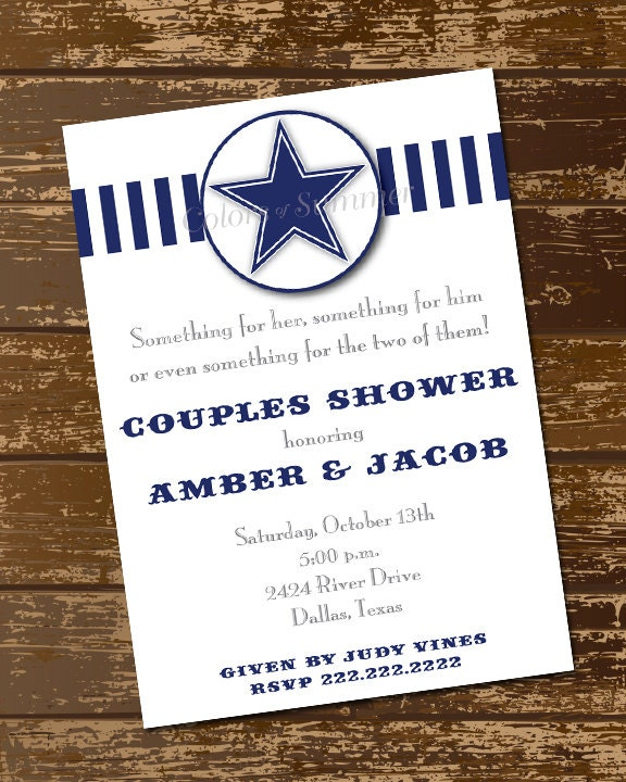 Couples Shower Invitation His And Her Shower Invitation Blue