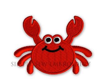 Crab Mini Machine Embroidery Design No. 42