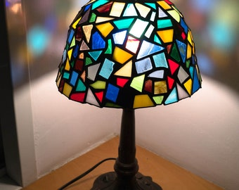 Fused glass lamp