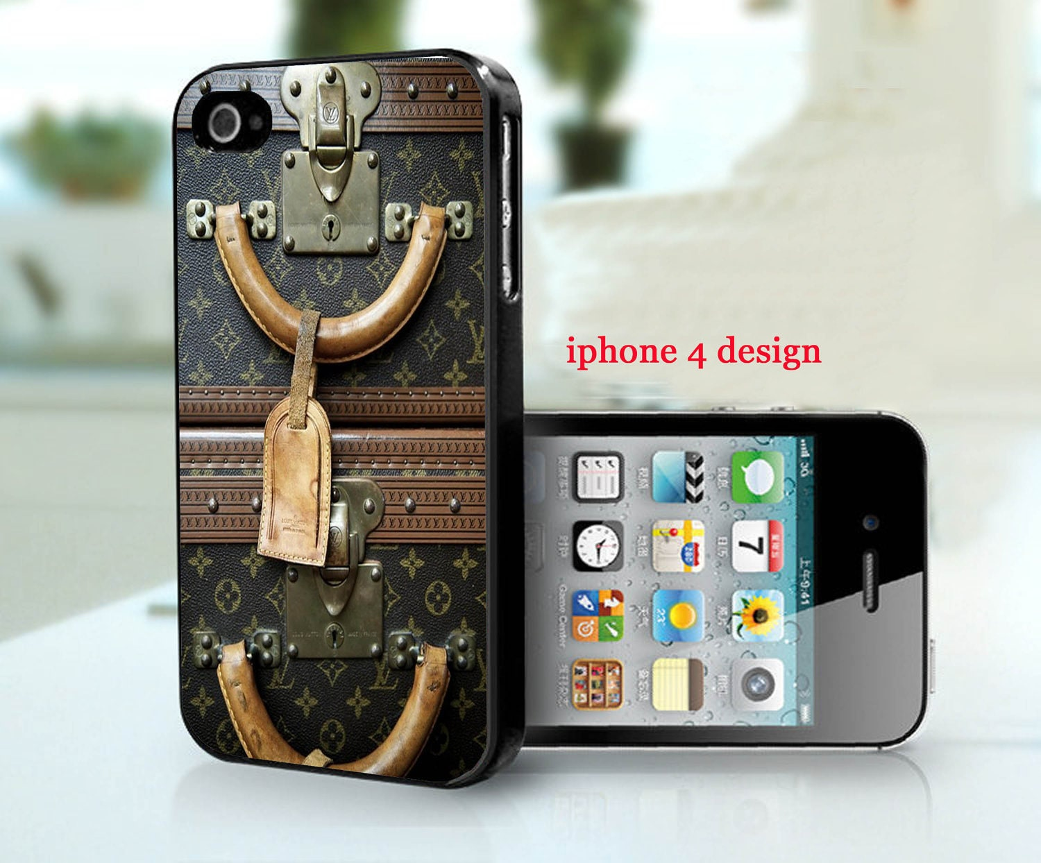 Louis Vuitton Vintage luggage Iphone 4 cell phone accessory