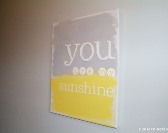 you are my sunshine canvas wall art - perfect for nurseries!