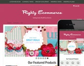 Pink Ribbon Cute WordPress Ecommerce Premade Website Template