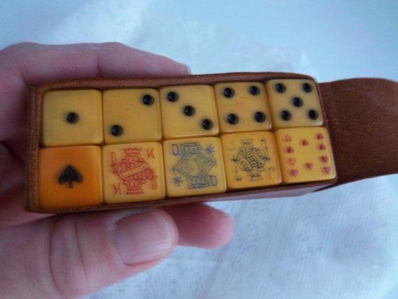 Vintage Bakelite Poker Dice Lot Of 10 Reduced Price