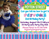 Abby Cadabby & Sesame Street Birthday Invitation - Custom Digital File