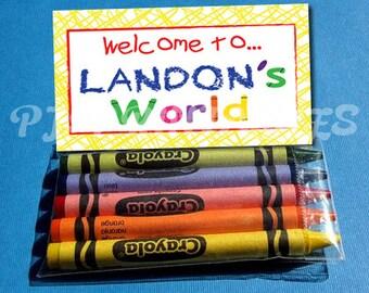 Elmo's World Favor Bag Fold Over signs- Customized Digital File