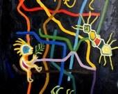 Fine Art Print 'Subway Visions II. Mexico City'