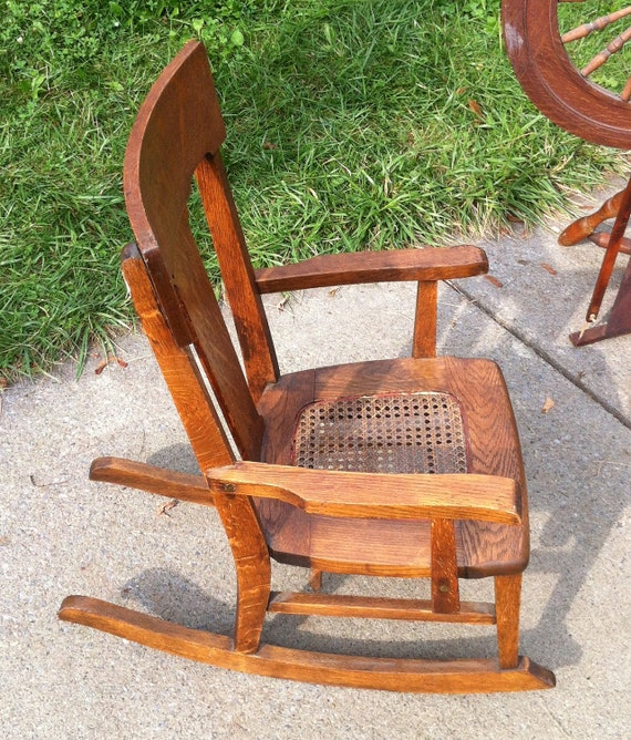 Early 20th Century Child Cane seat Rocking Chair
