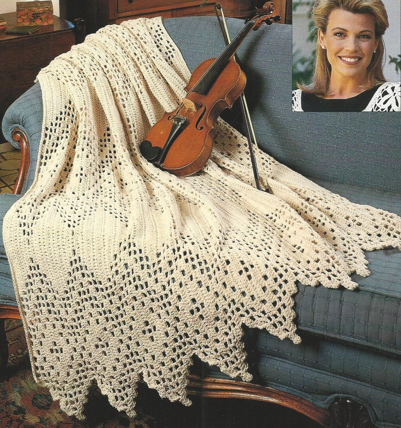 Free Crochet Pattern Wedding Afghan : Crochet AFGHAN TIMELESS VICTORIAN Afghan Throw Pattern